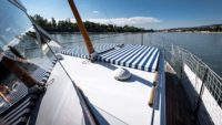 Front deck of Thetis charter yacht