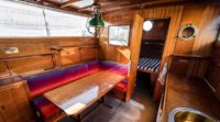 Thetis charter yacht kitchen cabin
