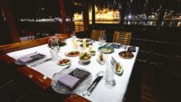 Fine dining on Thetis private yacht