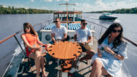 Wine-tasting on board of Thetis yacht